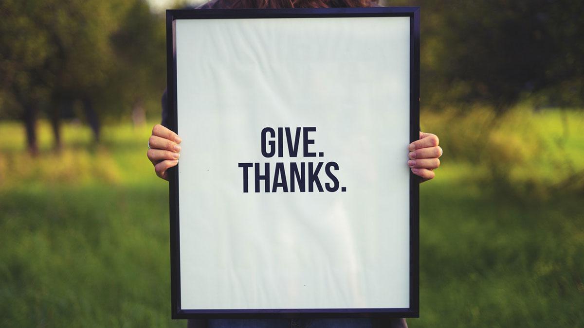 감사의 인사를